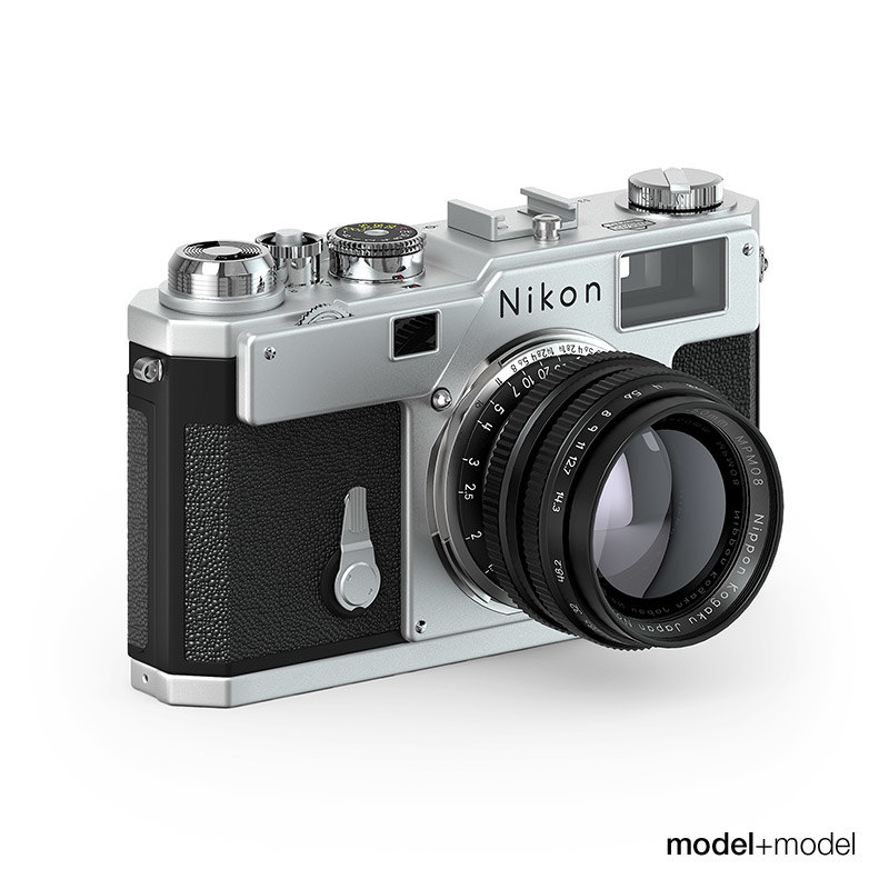 nikon s3 film camera 3d model