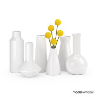 3d model set ceramic vases