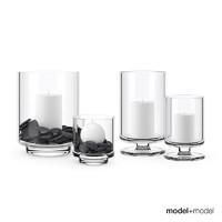 Hurricane glass candleholders
