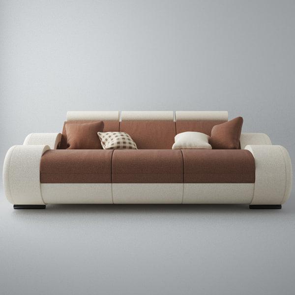 3d model modern sofa 3x