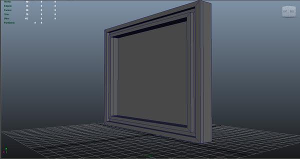 3d model low-poly frame