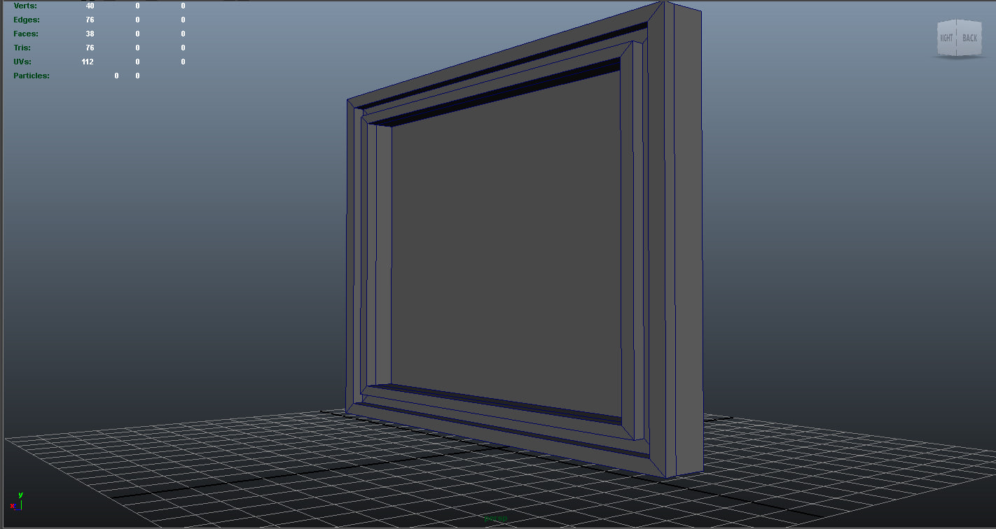3d model low-poly frame