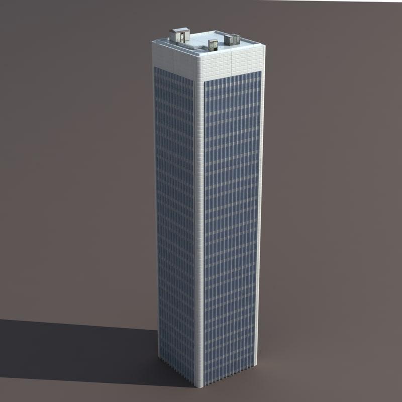 3d model of high-rise modelled
