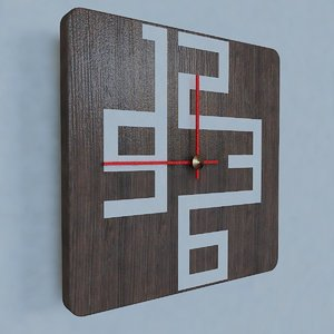 3d model of contemporary wall clock design