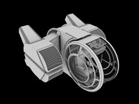 3d short range fighter cockpit model