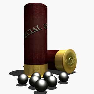 3d 3ds shotgun shell