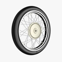 Motorcycle / bicycle wheel with spokes and tire