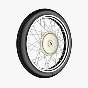 3dsmax motorcycle wheel spokes tire
