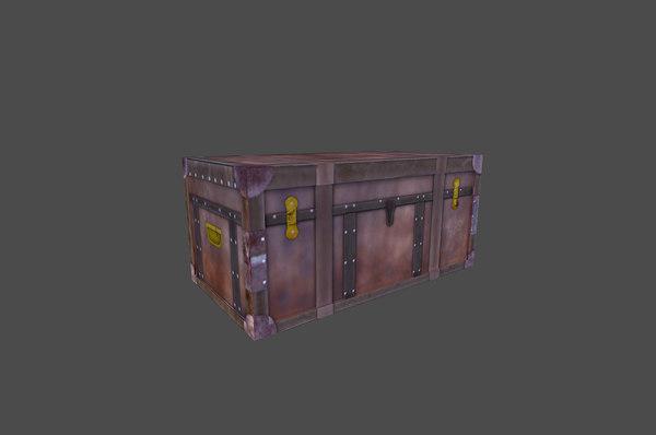 old treasure box 3d model
