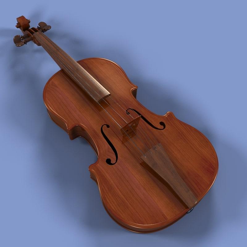 violin instrument 3d lwo
