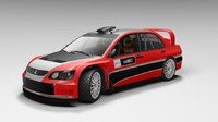 3d rally mitsubishi lancer wrc05 model