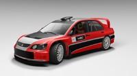 3d rally mitsubishi lancer wrc05 model