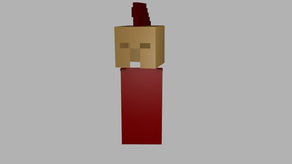 free obj model minecraft spartan helmet cape