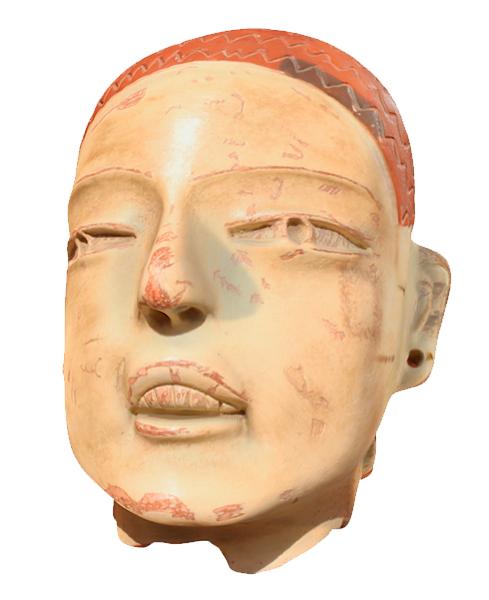 3d model mayan head replica