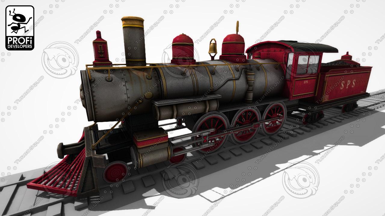 3d model steam locomotive lk 14