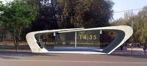 bus stop 3d max