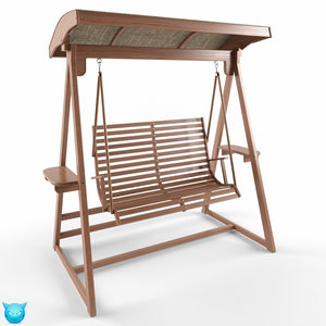 3d chair swing wood model