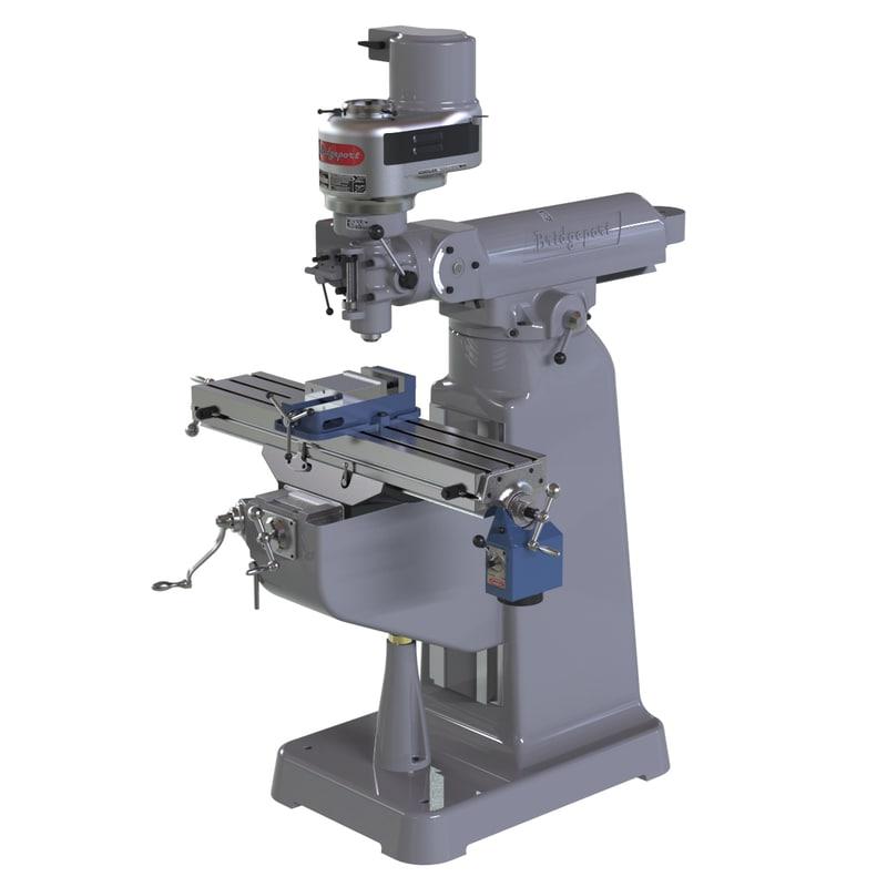 3d bridgeport milling machine