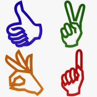 Icon Hand Gesture Collection