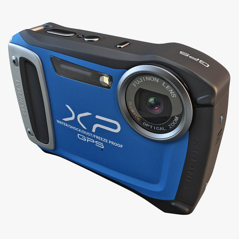 3d model fujifilm xp170 compact digital camera
