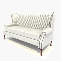 3 seater classic chair 3ds