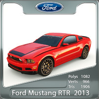 3d model of mustang rtr 2013