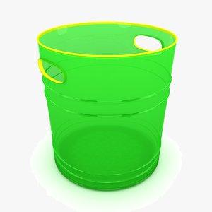 3d bucket modeled model