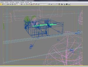 3d model building modern