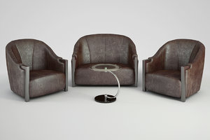 sofa chair effe studio 3d model