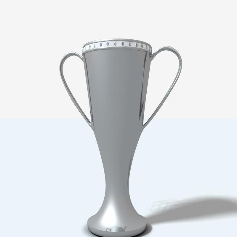 free trophy cup flower vase 3d model