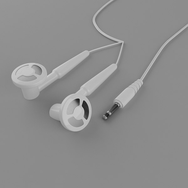 3d model professional headphones
