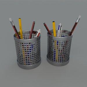 3d model pen holders