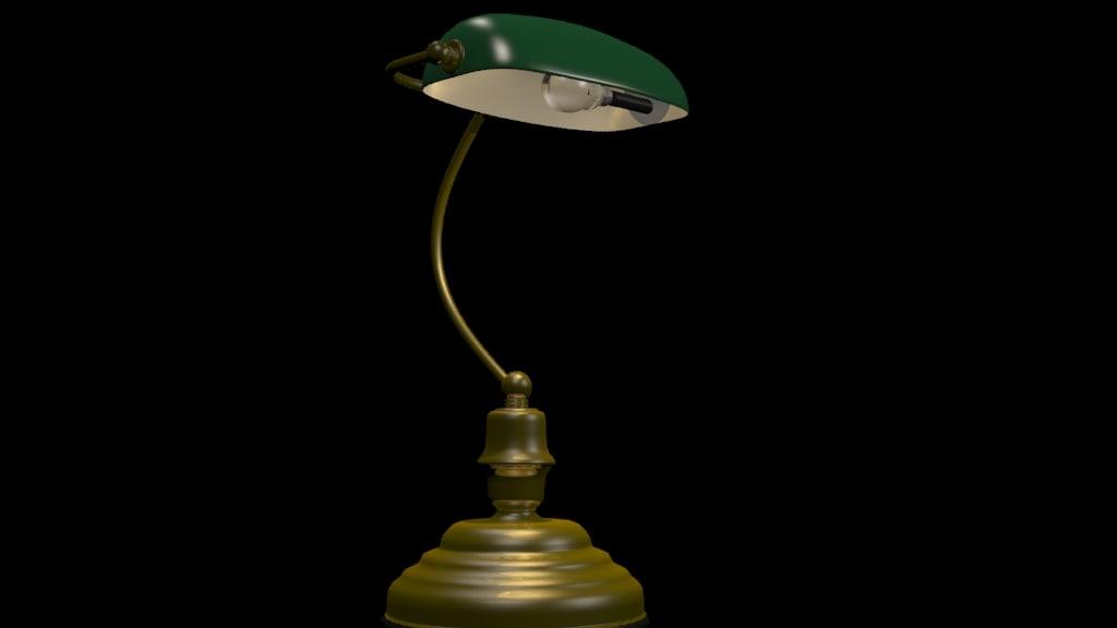 3d bankers lamp
