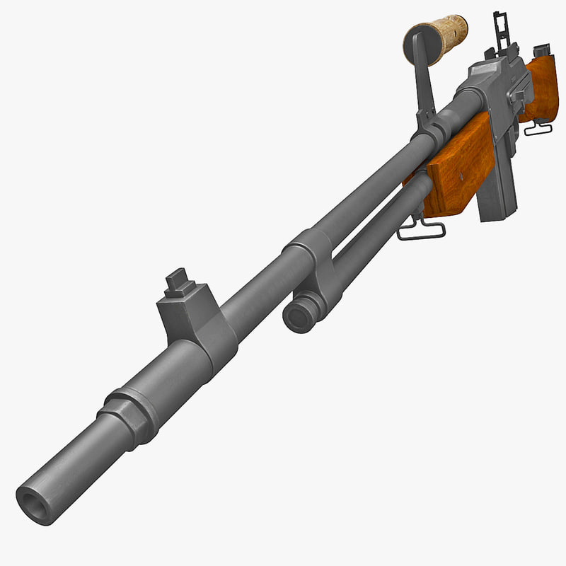 m1918a2 browning automatic rifle gun 3d max