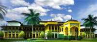 3d model palace north sumatera