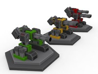 3 Minigun Towers / Turrets