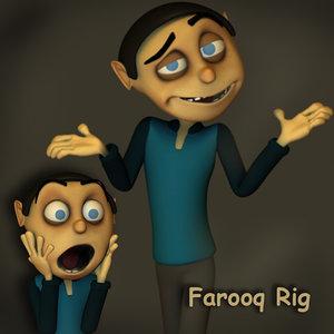 cartoon character 3d model