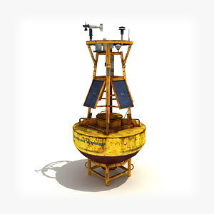 3d model meteorological buoy