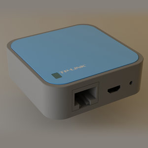 3d model of tp-link router