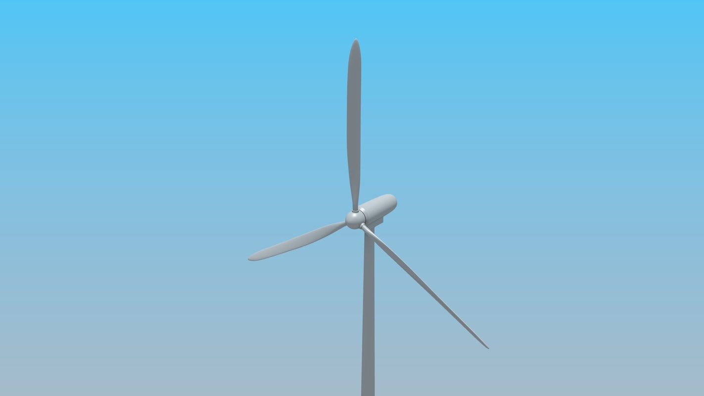 maya wind turbine animation