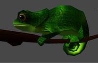 chameleon 3d obj