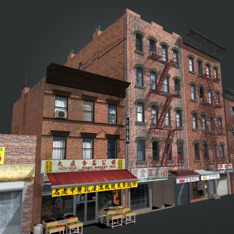 3ds max china town