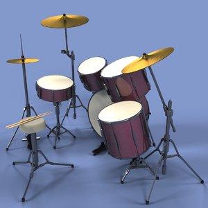 3d drums set