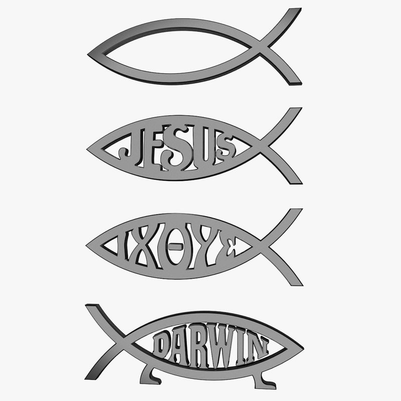 Max jesus fish symbol for Christian fish sign