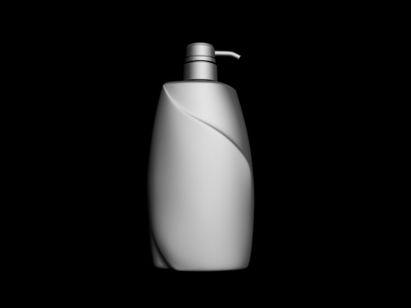 3d max big shampoo bottle