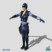 jes-643 female 3d obj