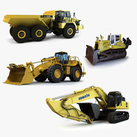 4 Mining Vehicles