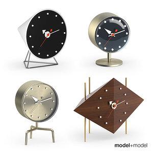 3d vitra nelson desk clocks model