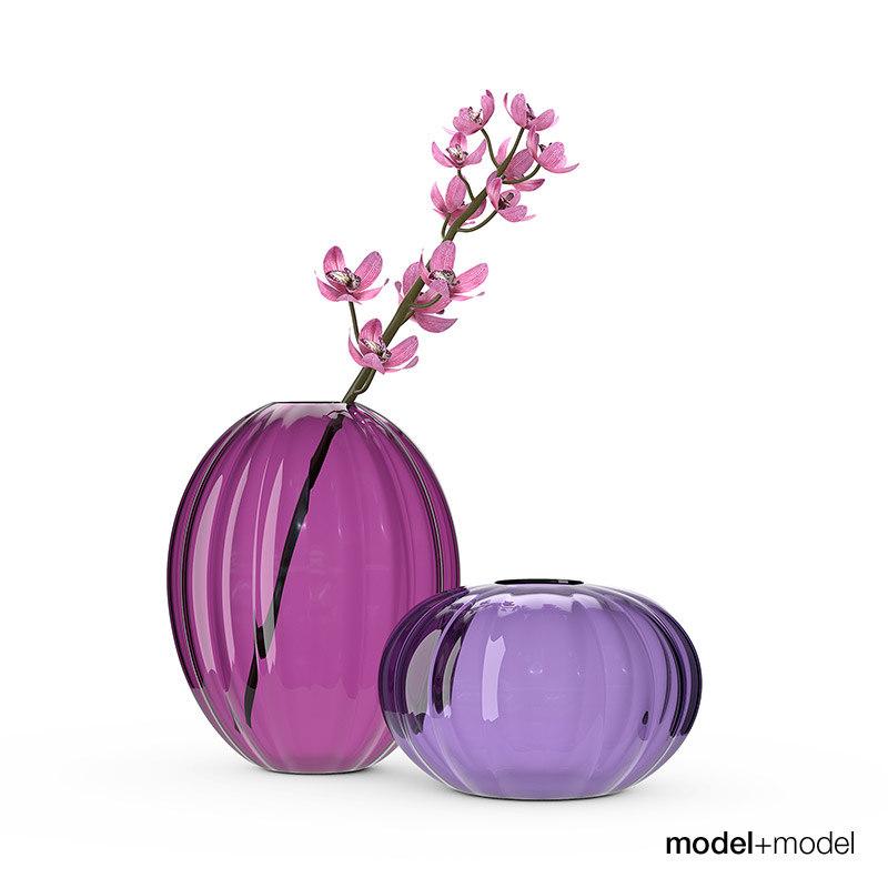 3d model of ikea varlikt vases flower