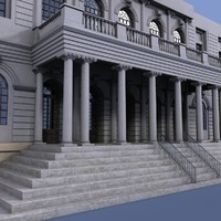 3d new york city hall model